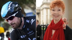 Sir Bradley Wiggins and Carole Boyd