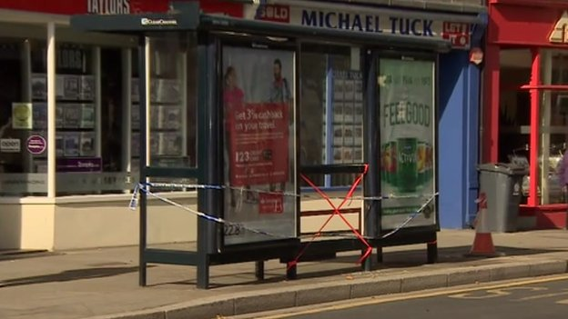 Bus stop in Gloucester