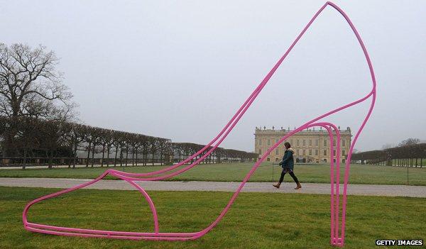 Michael Craig-Martin exhibition at Chatsworth House