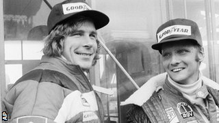 James Hunt and Niki Lauda