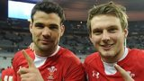 Wales half-backs Mike Phillips and Dan Biggar