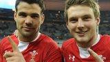 Wales half-backs Mike Phillips and Dan Biggar