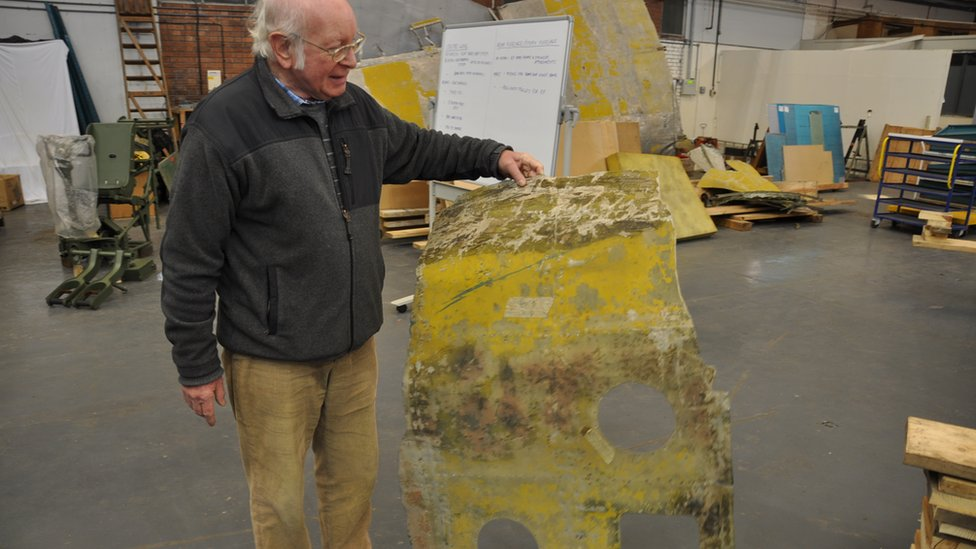 The restoration of the Bolingbroke  is led by engineer David Bradley