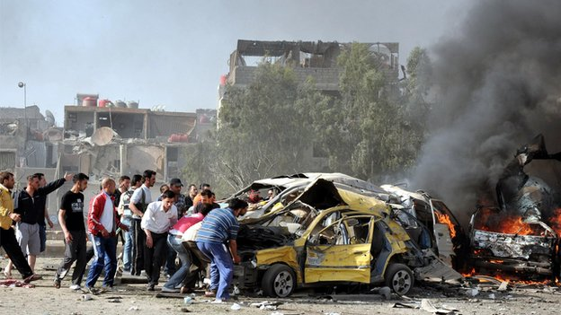 Twin blasts in Damascus, May 2012
