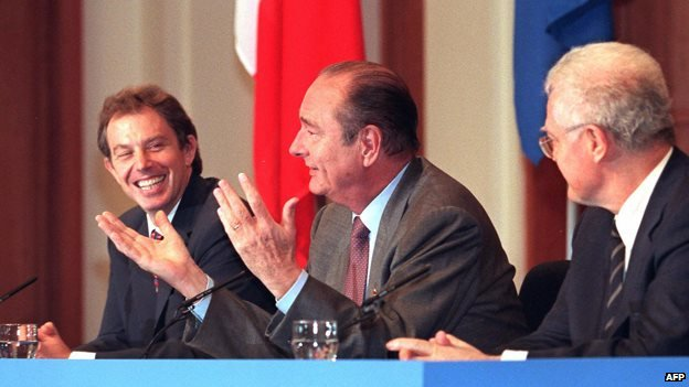 Tony Blair, Jacques Chirac and Lionel Jospin