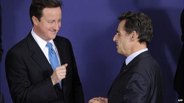 David Cameron and Nicolas Sarkozy at a summit in 2010