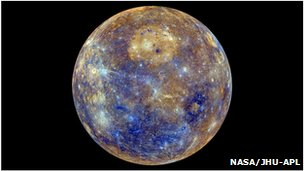 Mercury eight colour map