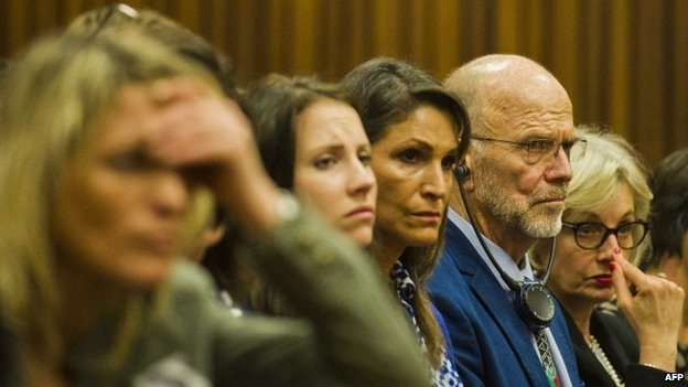 Relatives of Oscar Pistorius in court (13 March 2014)