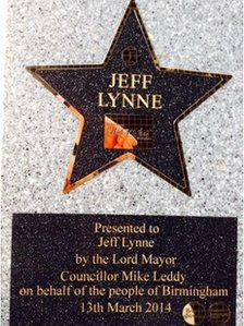 Jeff Lynne walk of fame star