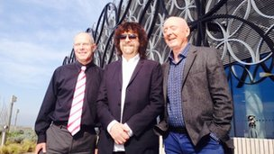 Jeff Lynne, Jasper Carrot & Brian from the Library of Birmingham