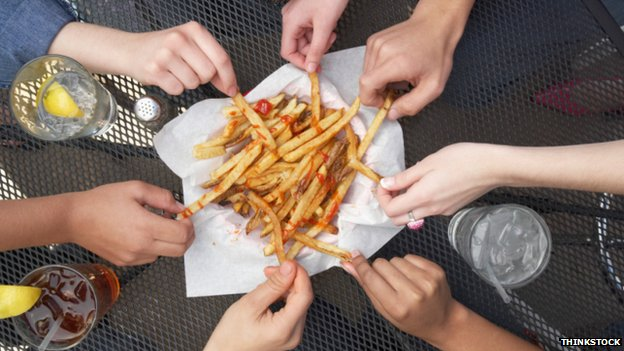 Sharing french fries