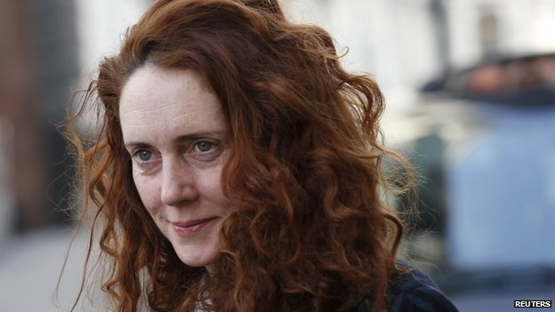 Rebekah Brooks arriving at court