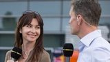 Suzi Perry and David Coulthard