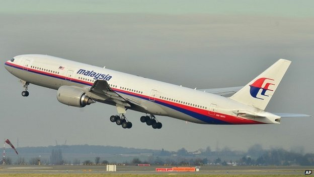 The actual Malaysia Airlines aircraft that disappeared after departing from Kuala Lumpur airport