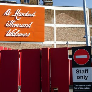 "A sign in Digbeth which reads ""A hundred thousands welcomes"""