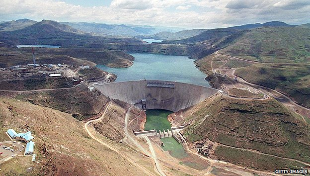 Lesotho's Katse Dam, part of the Lesotho Highlands Water Project