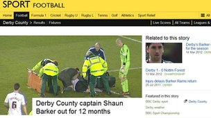 Shaun Barker injury story in 2012