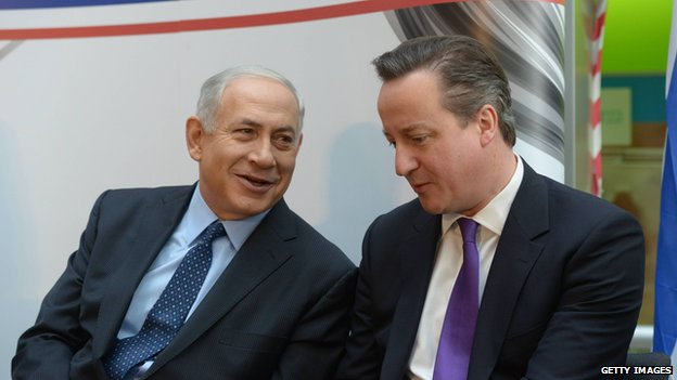 Benjamin Netanyahu and David Cameron