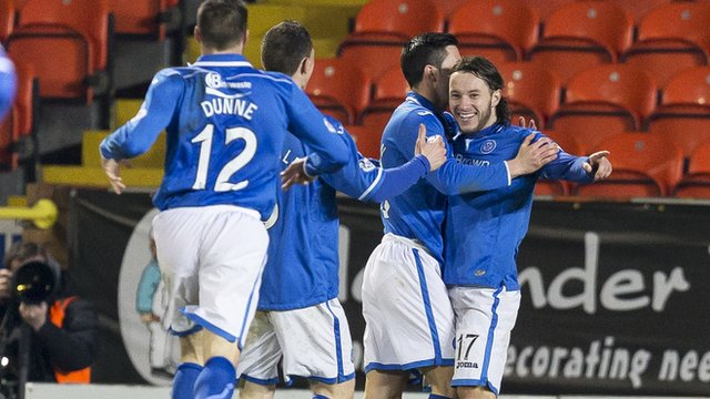 Stevie May scored the winner for St Johnstone at Tannadice