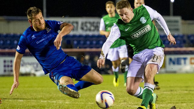 Inverness and Hibs fought out a drab 0-0 draw