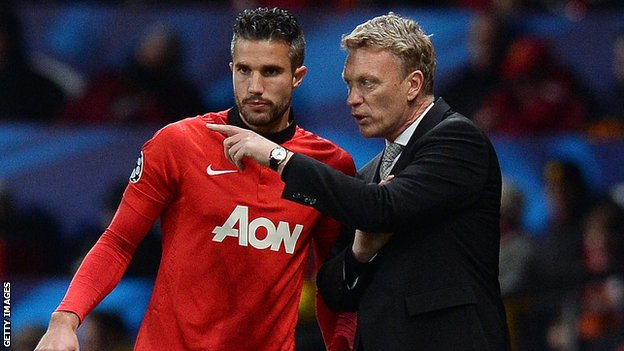 Robin van Persie has refuted claims he does not see eye to eye with David Moyes