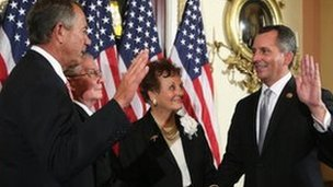 David Jolly is sworn in as a member of Congress on 13 March, 2014