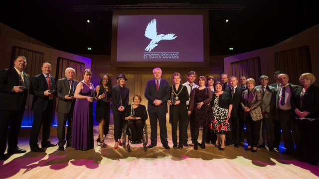 Winners of the St David Awards 2014