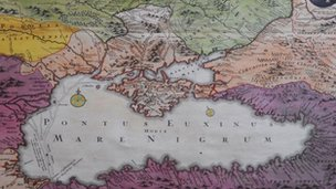 18th Century map of Crimea