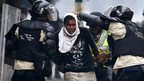 Protester arrested in Caracas, Venezuela