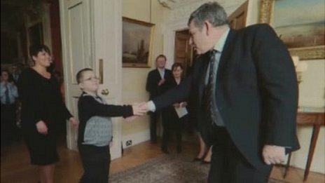 Harry Moseley with Gordon Brown