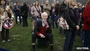 Tony Benn at Hyde Park rally