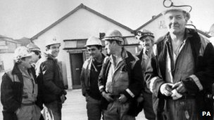 Tony Benn at Arkwright Colliery near Chesterfield in 1984