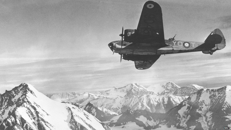 9048 flying over Alaska during WW2