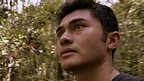 Travel Show reporter Henry Golding in a jungle