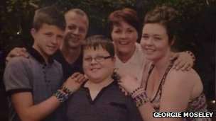 Harry Moseley and his family