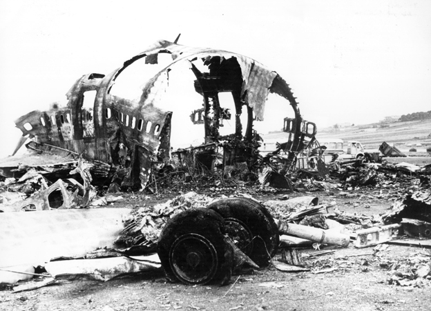 Wreckage in Tenerife, 1977