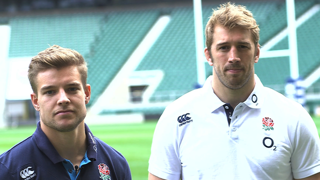 Chris Robshaw and Tom Mitchell