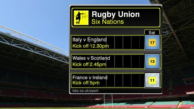 Rugby forecast