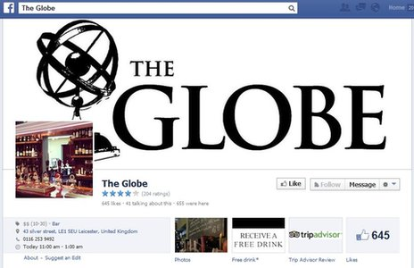The Globe's Facebook page