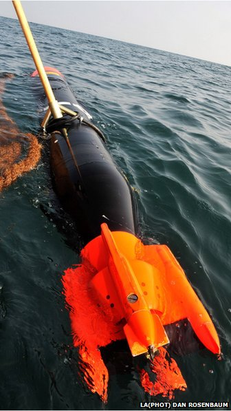 A Test Variant Torpedo being recovered from the sea