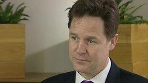 Nick Clegg on a factory visit in Sunderland