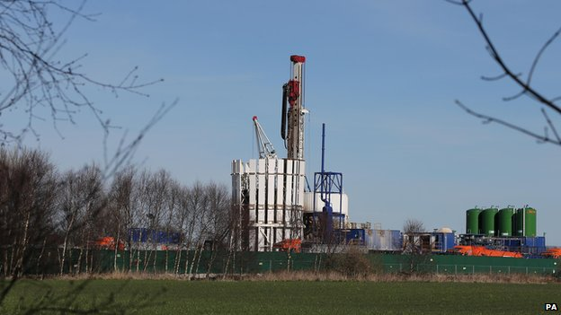 Fracking test site at Barton Moss, Manchester