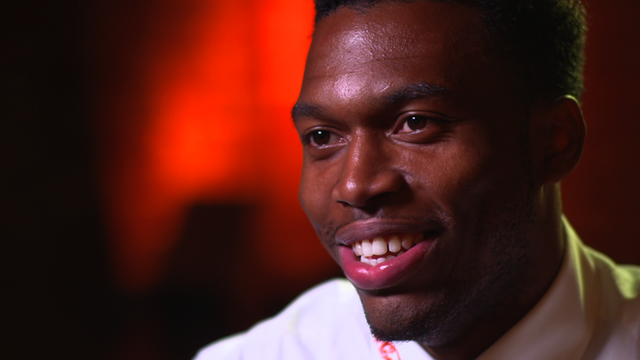Liverpool's Daniel Sturridge speaks to Football Focus