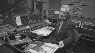 Tony Benn presents a selection of records on BBC Radio London