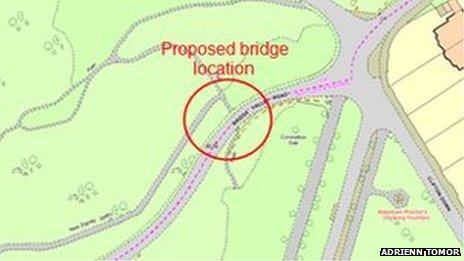 Proposed bridge location