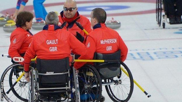 GB wheelchair curling team