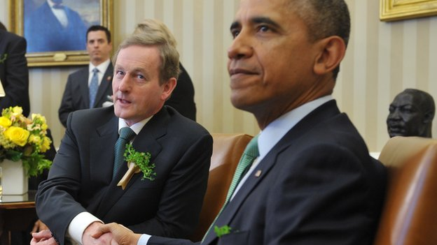 Enday Kenny with Barack Obama