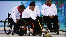 GB wheelchair curling team