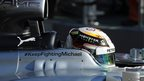 """A message of support that reads """"#Keep Fighting Michael"""" adorns the side of Mercedes driver Lewis Hamilton's car"""