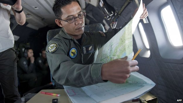 Malaysian Air Force search and rescue  operation over the Strait of Malacca. 14 March 2014